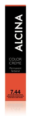 ALCINA Color Creme Haarfarbe  60ml  7.44 mittelblond intensiv-kupfer