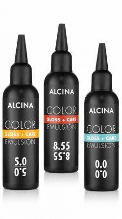 Alcina Color Gloss + Care Emulsion 100 ml 7.44 mittelblond intensiv kupfer