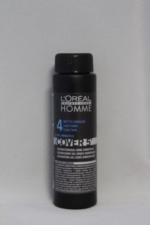 L'oreal Homme Cover 5 NO 4 mittelbraun 3x 50ml