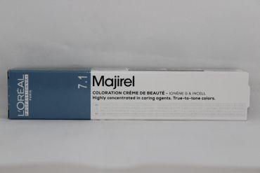 L'oreal Majirel Haarfarbe 7.1 mittelblond asch 50ml
